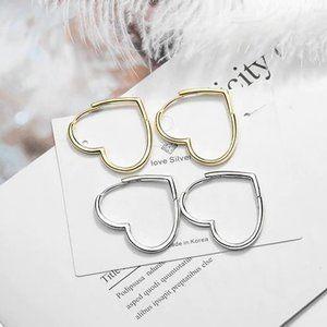 NEW 925 Sterling Silver Heart Hoop Earrings